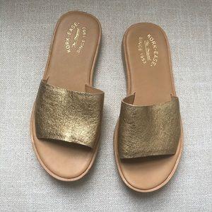 Kork Ease Baldur Slide Sandal Gold 8 NWOT